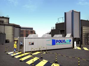 vue 3D unité recyclage PVC composites Polyloop